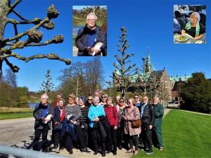 Matkalaiset Fredriksborgin linnan edustalla